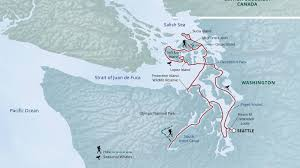 Olympic National Park Map Olympic Wilderness U0026 San Juan Islands 2017 2018 Uncruise