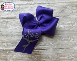 custom hair bow etsy