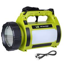 10w led camping spotlight rechargeable searchlight le