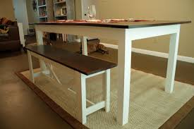 white table with bench latest dining room bench plans with remodelaholic rustic x dining