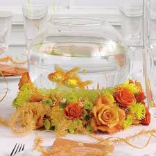 fish bowl centerpieces wedding centerpieces rooted in