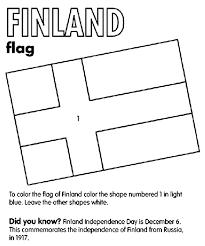 Finland Flag Coloring Page Crayola Com Flag Color Page