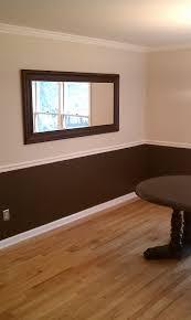 two tone wainscoting ideas livingroom u0026 bathroom