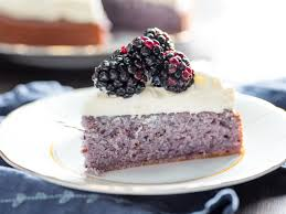 photo cake blackberry cake with cheese frosting recipe serious eats