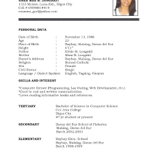 exle of simple resume format resume format exles to get ideas how make exquisite basic