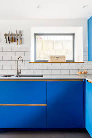 electric blue kitchen cabinets electric blue kitchen by bath bespoke the kitchen think