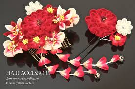 kanzashi hair ornaments soubien rakuten global market thumb crafted kanzashi 2 points