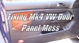 1999 05 vw golf gti jetta mk4 mkiv door panel cloth removal mess
