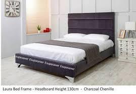 Suede Bed Frame Bed Frame Available In Crush Velvet Chenille Linen Or