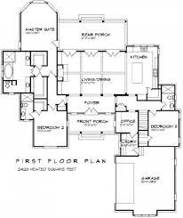single story house plans with bonus room above garage