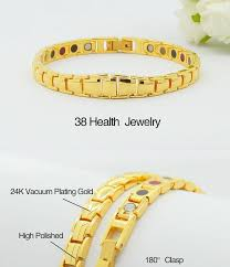 magnetic bracelet gold plated images New style 100 pure copper magnetic bracelet germanium 24k gold jpg