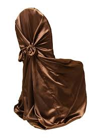 brown chair covers universal satin self tie chair cover chocolate brown at cv linens