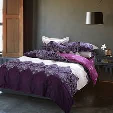 Cheap Purple Bedding Sets Papa Mima Purple Bedding Set 4pcs Cotton Duvet Cover Set Bed Quilt