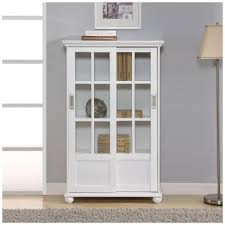 altra furniture aaron lane navy glass door bookcase 9448596com