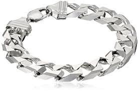 bracelet link silver sterling images Men 39 s sterling silver italian 12 00 mm solid curb link jpg