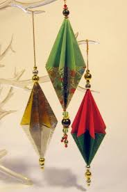 folded paper ornaments budget crafts origami