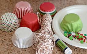cupcake liner ornaments easy craft hip2save