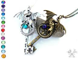 dragon key necklace images Dragon lovers set couples necklace set skeleton key jpg