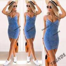 womens denim dress ebay