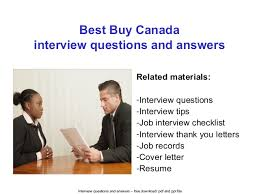 best buy canada interview questions and answers