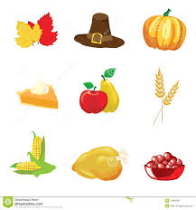thanksgiving icons stock vector image of green drawing 14890059