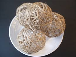 make your own decorative twine balls for wedding or home decor
