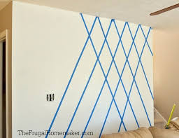 Accent Wall Patterns by Wall Designs With Tape Interlocking Square Paint Patterns