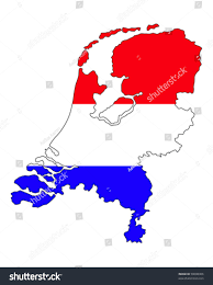 netherlands map flag netherlands country border line flag stock vector 50008306