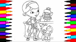 disney junior doc mcstuffins coloring pages l learning colors by