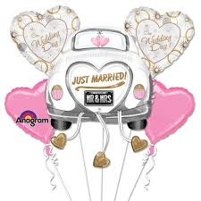 helium balloon delivery nyc just married mylar party balloon bouquet inflated balloon shop nyc