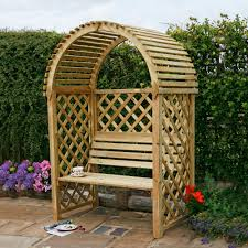 blooma softwood round top arbour departments diy at b u0026q