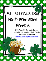 fun games 4 learning st patrick u0027s day math freebies