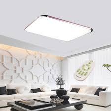 Square Ceiling Light Fixture by 48w Led Square Ceiling Down Light Flush Mount Lamp Wireless Remote
