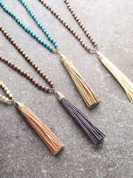 beaded tassel necklace images Long small bead tassel necklace 4 colors bobbles and lace jpg