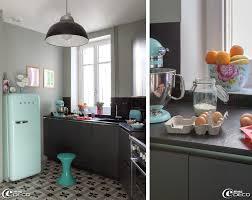 cuisine gris et vert anis petit decoration cuisine en vert idées de design maison et idées