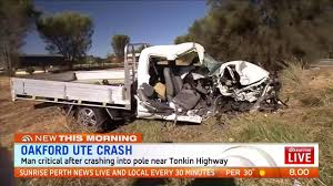 man fighting for life after ute crash in oakford the west australian