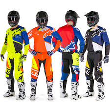 motocross gear combo 2018 alpinestars techstar factory gear kit black blue white yellow