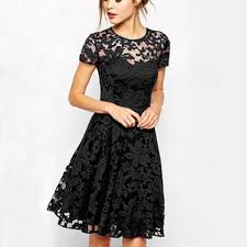 exclusive floral lace dress sleeve casual