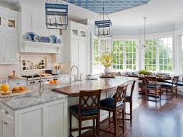 White And Blue Kitchen Cabinets by Backsplash Ideas For Granite Countertops Hgtv Pictures Hgtv