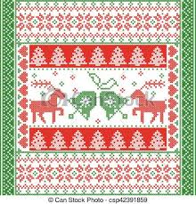 christmas pattern red green scandinavian style and nordic culture inspired christmas and