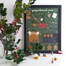 hand lettered gingerbread men recipe art by inkandparchmentpress