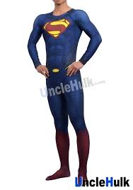 superman zentai costume 9 include cloak and kungfu shoes soles
