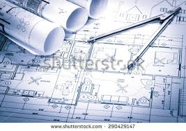 and house plans rolls architecture blueprints house plans on stock photo 290429147