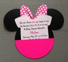 baby shower invitations mesmerizing minnie mouse baby shower