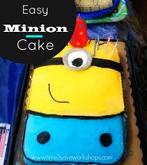 Minion Cake Decorations Easy Minion Birthday Cake No Special Pan Needed Kasey Trenum