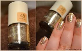 minute beauty innisfree eco nail color basic in 48 vanilla gold