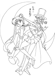 sailor moon coloring pages and tuxedo mask coloringstar