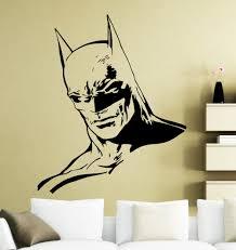 online get cheap batman wall murals aliexpress com alibaba group batman head handsome face wall stickers home rooms art decorative vinyl wall decals special cool designed wall murals wm 406