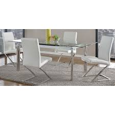 clear dining room chairs tara clear modern extension dining table eurway