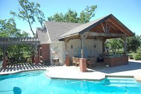 Cabana Pool House Cabana Traditional Pool Houston By Rives Designers Llc